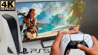 Gameplay Horizon Zero Dawn PS5 ilość klatek, działanie na UHD